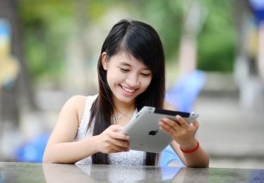 Girl iPad